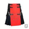 black and red deluxe utility kilt, utility kilt, utility kilts, utility, kilts, kilt. deluxe kilts, kilt for sale, kilt buy online, kilt sale,