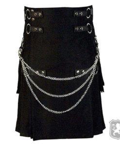 gothic, gothic kilts, kilts, kilt, kilt for sale, buy kilts, buy kilts online, black deluxe gothic kilt, deluxe kilts,