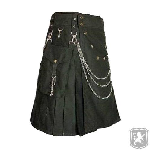 black utility kilt, utility kilt, utility, kilts, kilt, buy kilts, kilts online, buy kilts online, kilt utility, black kilt,