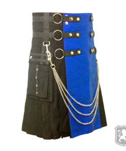 scottish, kilt, kilts, kilts for sale, gothic kilts, goth, gothic, kilt buy online, black and blue kilt,