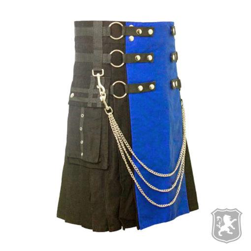 scottish, kilt, kilts, kilts for sale, gothic kilts, goth, gothic, kilt buy online, black and blue kilt,