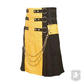 kilts, kilt for sale, kilt, gothic kilts, gothic, goth, kilt buy online, kiltzone, scottish kilts, black and yellow kilt,