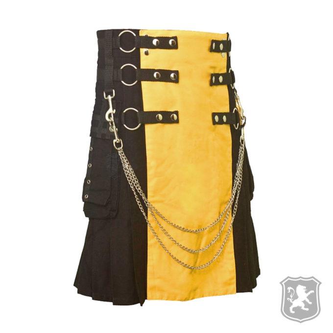 kilts, kilt for sale, kilt, gothic kilts, gothic, goth, kilt buy online, kiltzone, scottish kilts, black and yellow kilt,