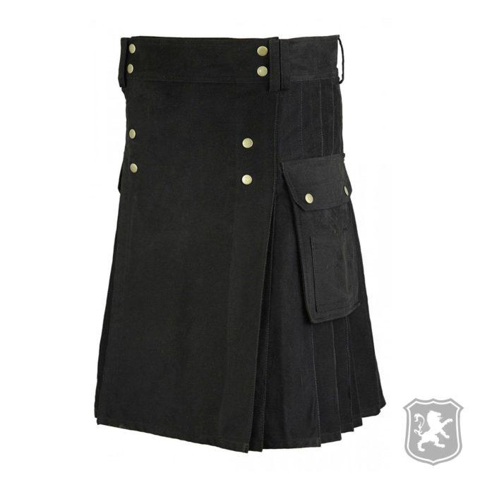 black utility kilt, utility kilts, black utility kilts, kilts for sale, kilts buy online, buy kilt online, kilt for sale,