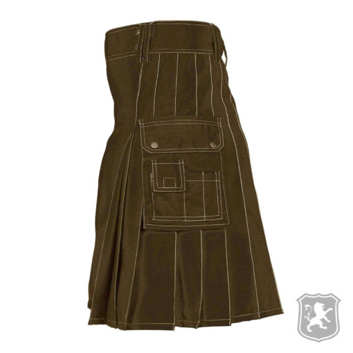 Brown Utility kilt, utility kilt, utility kilts, kilts, kilt, kilt for sale, kilt shop, shop kilt online, shop kilt, kiltzone,