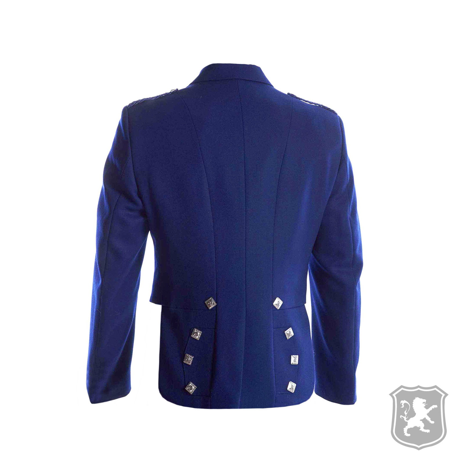 Navy Blue Prince Charlie Jacket With 3 Buttons Vest