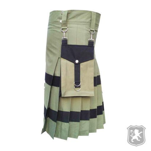 olive utility kilt, utility kilt, utility kilts, kilts for sale, kilt buy online, kilt for sale, kiltzone, shop kilt, shop kilts online,
