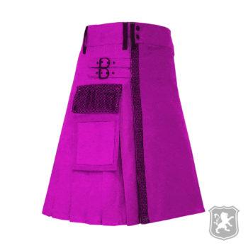 Pink utility kilt, utility kilt, utility kilts, utility kilts for sale, utility kilts buy online, buy online kilts, kilts, kilt, kiltzone, kiltzone shop, shop kilts online, shop kilt,