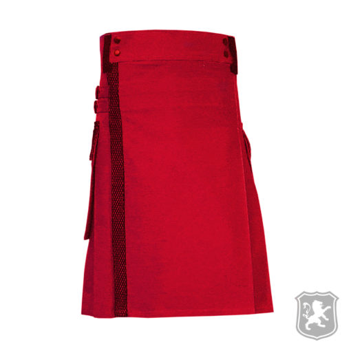red utility kilt with net pockets, red utility kilts, red utility kilt, utility kilts, utility kilt, kilt for sale, buy kilts online, kilt online, shop kilt online, shop kilt, shop kiltzone, kiltzone
