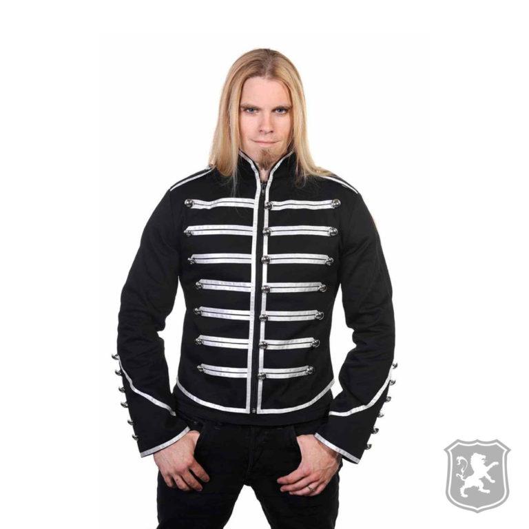 Black Military Drummer Parade Jacket, gothic jackets, goth, gothic, goth jacket, goth jackets, goth jackets buy online, shop gothic jackets, shop goth, shop goth jackets, goth jackets for sale, goth sale, goth jackets online,