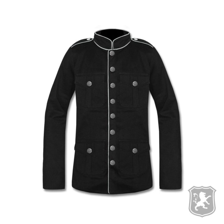 Black Military Jacket With White Lining, Black Military Jacket, gothic jackets, goth, gothic, goth jacket, goth jackets, goth jackets buy online, shop gothic jackets, shop goth, shop goth jackets, goth jackets for sale, goth sale, goth jackets online,