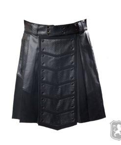 gothic kilt, dark kilt, dark leather kilt, gothic leather kilt, kilts for men, kilts for sale, buy kilts online, buy leather kilts online,
