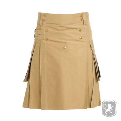 khaki utility kilt, utility kilts for sale, stylish utility kilt, unique utility kilt, goth utility kilt, utility kilts for men, custom made kilts, handmade kilts, cheap kilts for sale, used utility kilts for sale,