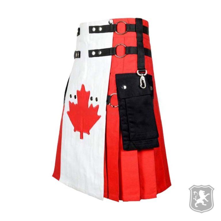 canadian flag kilt, canada flag kilt, flag kilts for sale, flag kilt, kilts for sale, canada flag utility kilt, canadian flag utility kilt,