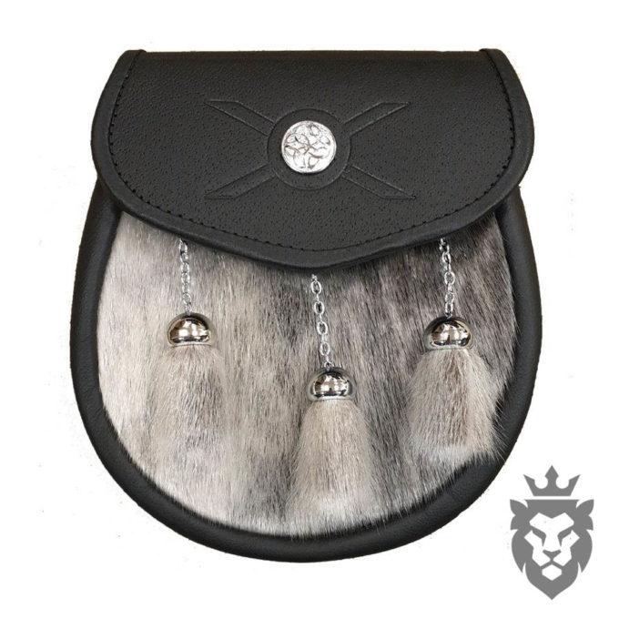 leather sporran, sporrans, sporrans for sale, faux fur sporran