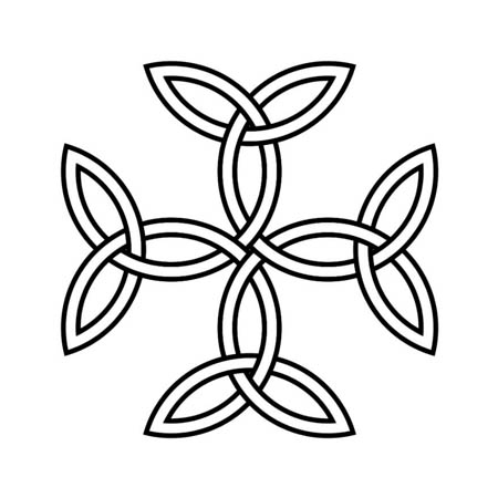 carolingian cross symbol